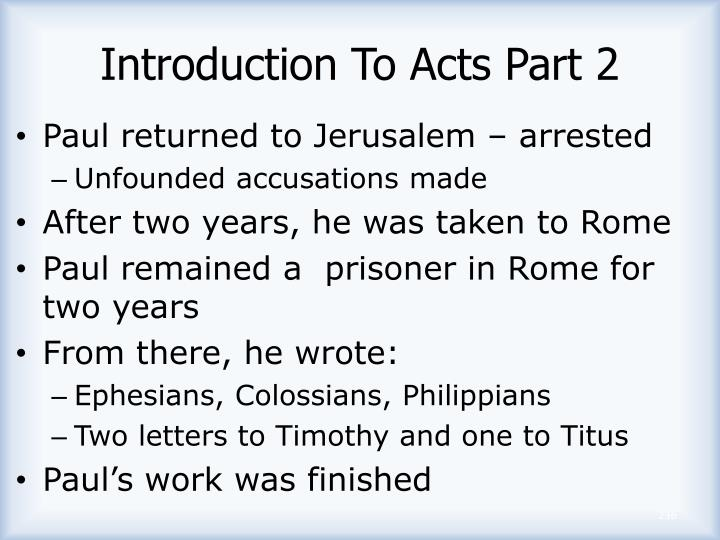 Introduction To Acts Part 2