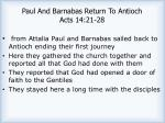 paul and barnabas return to antioch acts 14 21 281