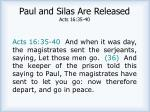 paul and silas are released acts 16 35 40