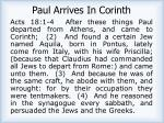 paul arrives in corinth