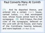 paul converts many at corinth acts 18 7 8