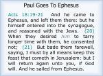 paul goes to ephesus
