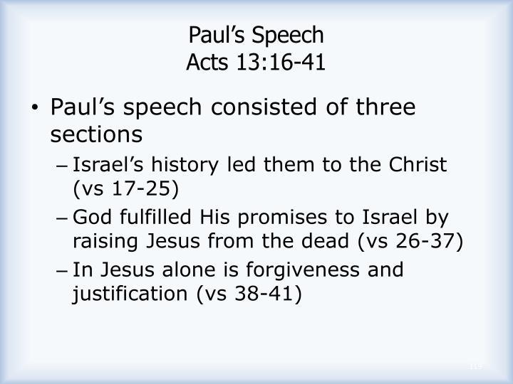 Paul's Speech