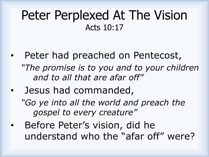 Peter Perplexed At The Vision