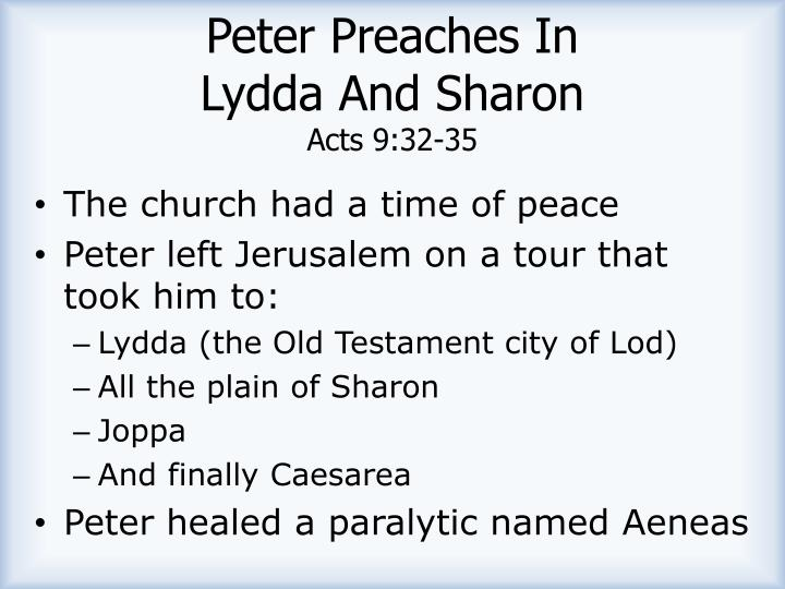 Peter Preaches In