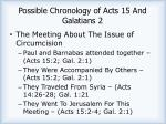 possible chronology of acts 15 and galatians 2