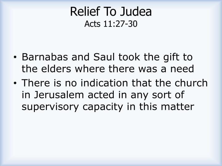 Relief To Judea
