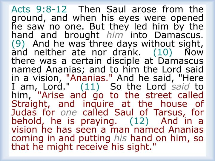 Acts 9:8-12