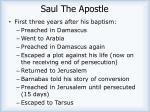 saul the apostle