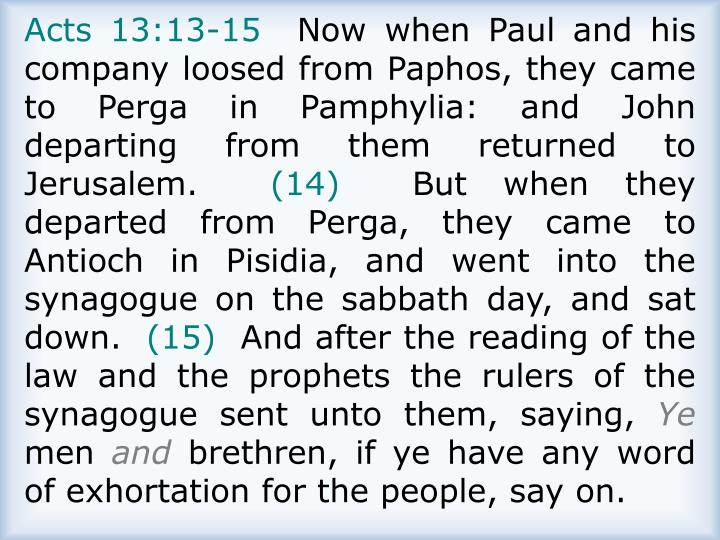 Acts 13:13-15