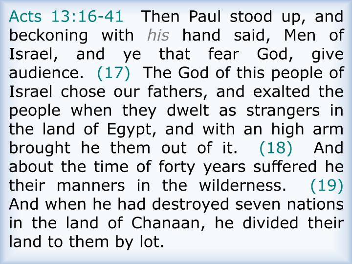 Acts 13:16-41