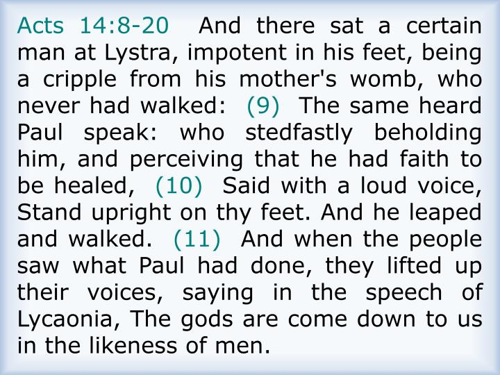 Acts 14:8-20