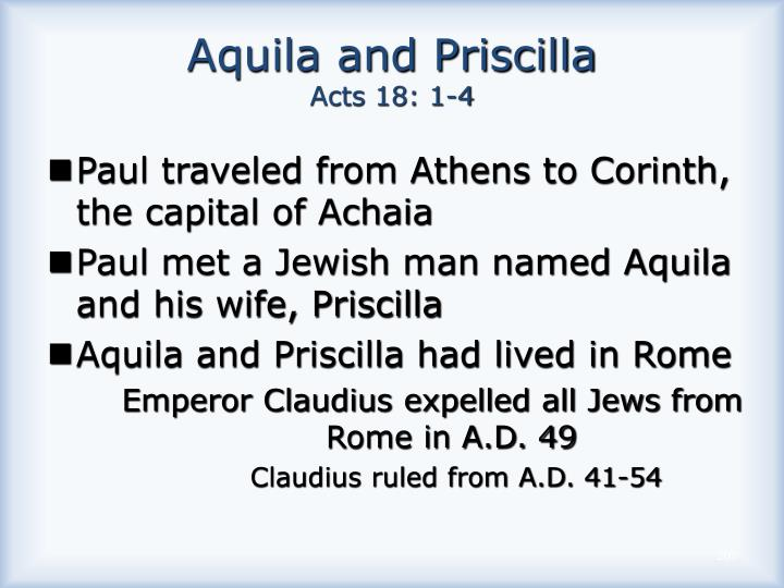 Aquila and Priscilla