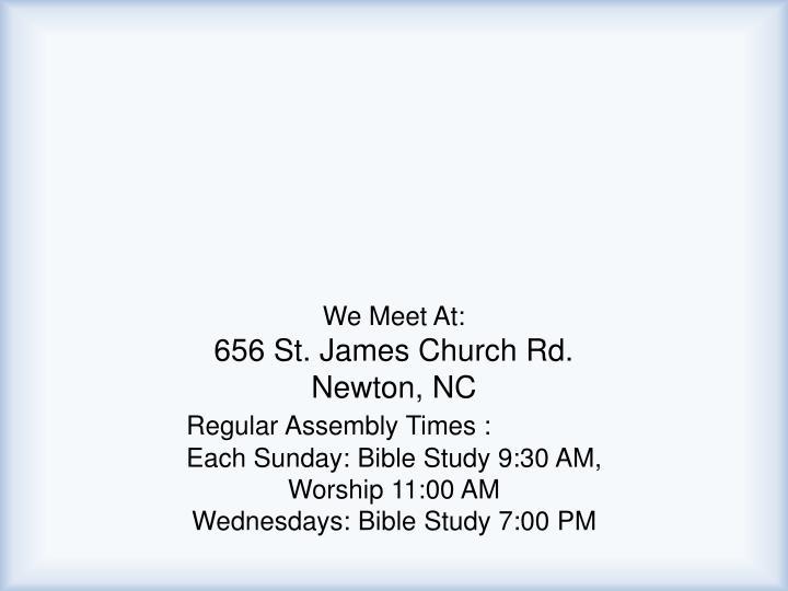 We Meet At: