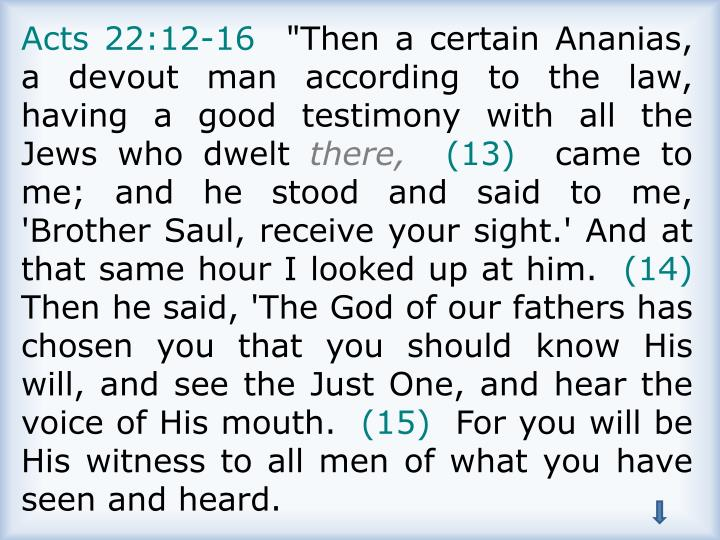 Acts 22:12-16