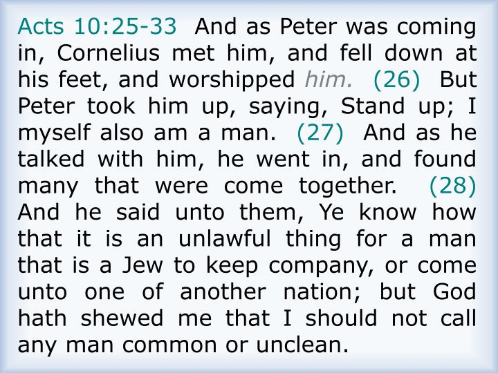 Acts 10:25-33