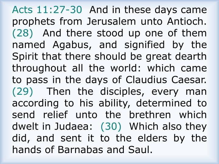 Acts 11:27-30