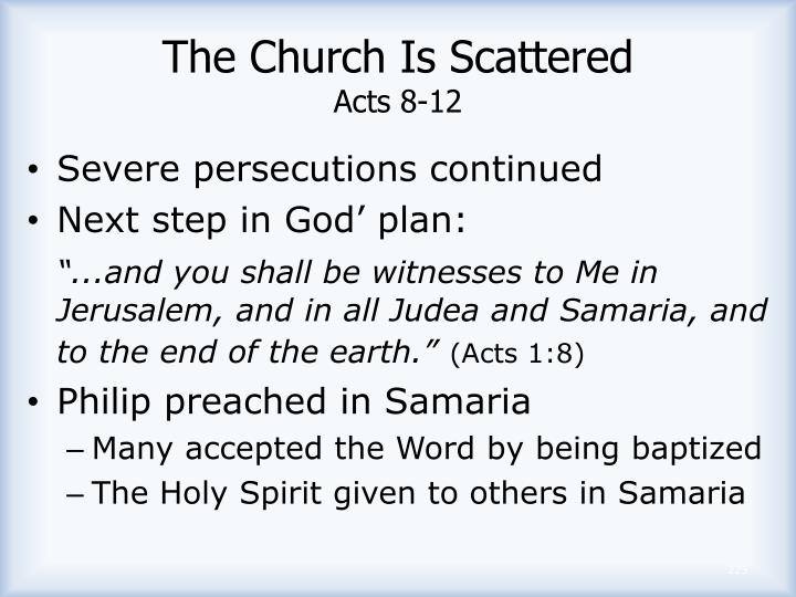 The Church Is Scattered