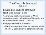the church is scattered acts 8 12