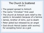 the church is scattered acts 8 122