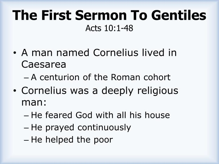 The First Sermon To Gentiles