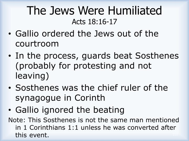 The Jews Were Humiliated