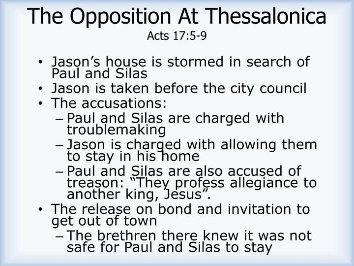 The Opposition At Thessalonica
