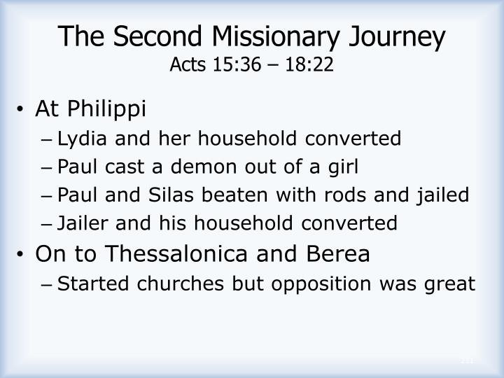 The Second Missionary Journey