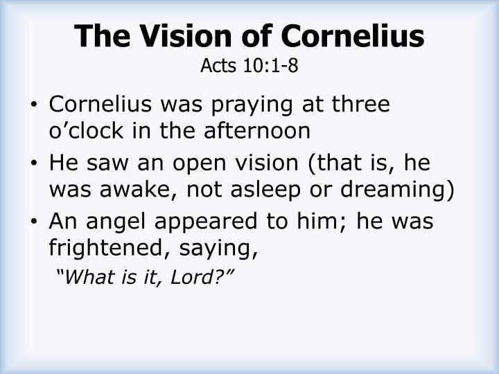 The Vision of Cornelius