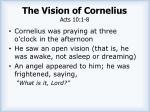 the vision of cornelius acts 10 1 8