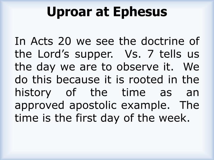 Uproar at Ephesus