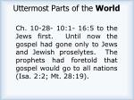 uttermost parts of the world