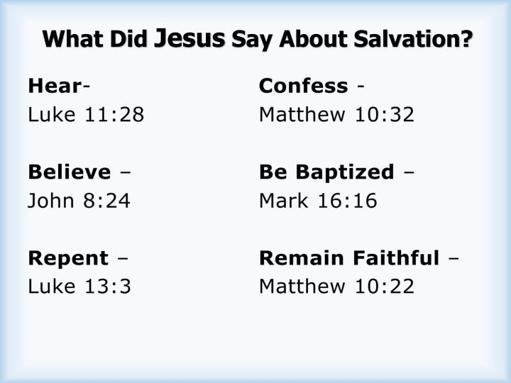 What did jesus say about salvation
