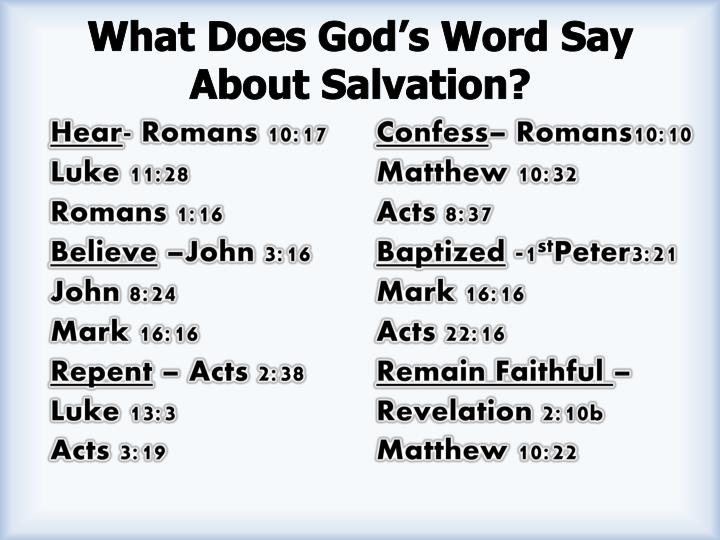 What Does God's Word Say About Salvation?