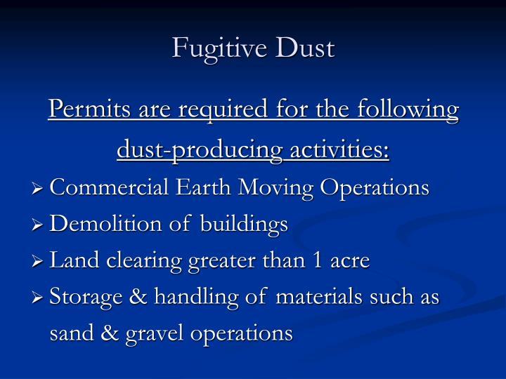 Fugitive Dust