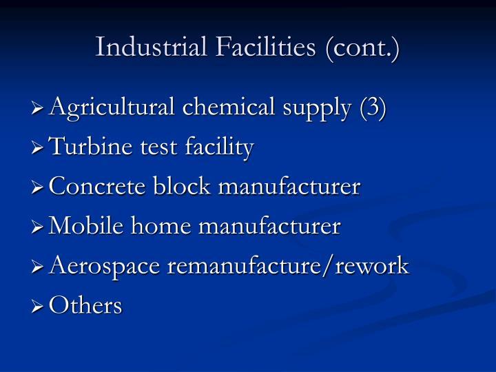 Industrial Facilities (cont.)