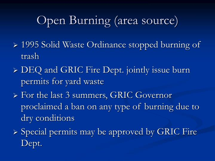 Open Burning (area source)