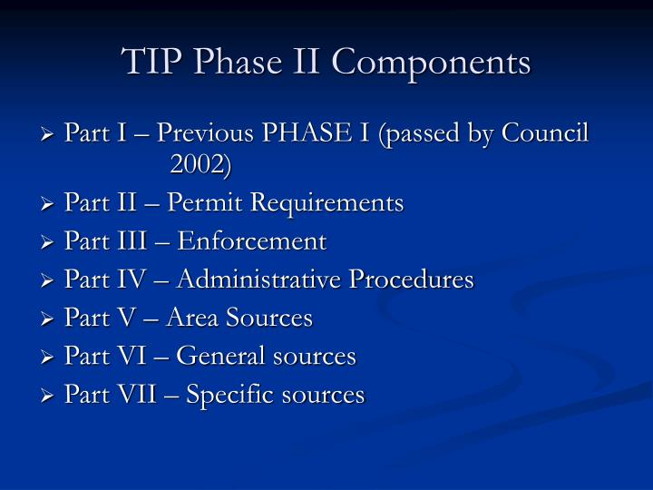 TIP Phase II