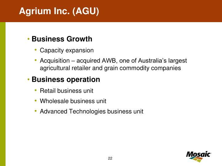 Agrium Inc. (AGU)