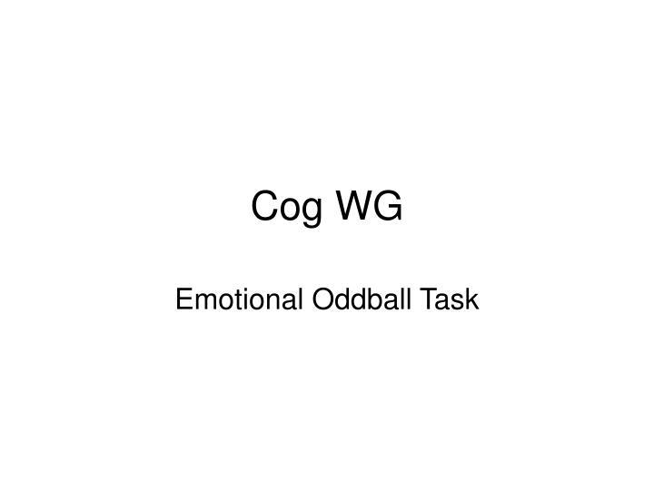 Cog WG