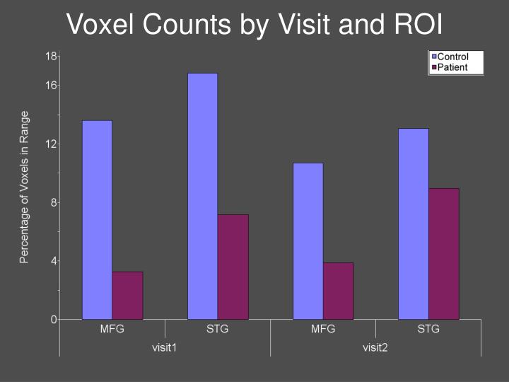 Voxel Counts by Visit and ROI