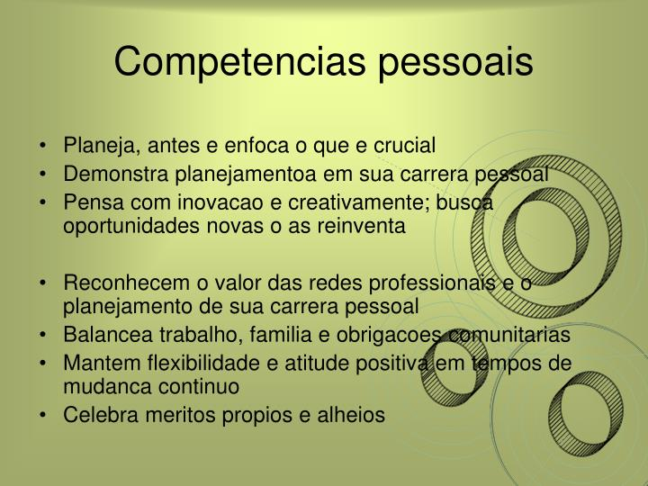 Competencias pessoais