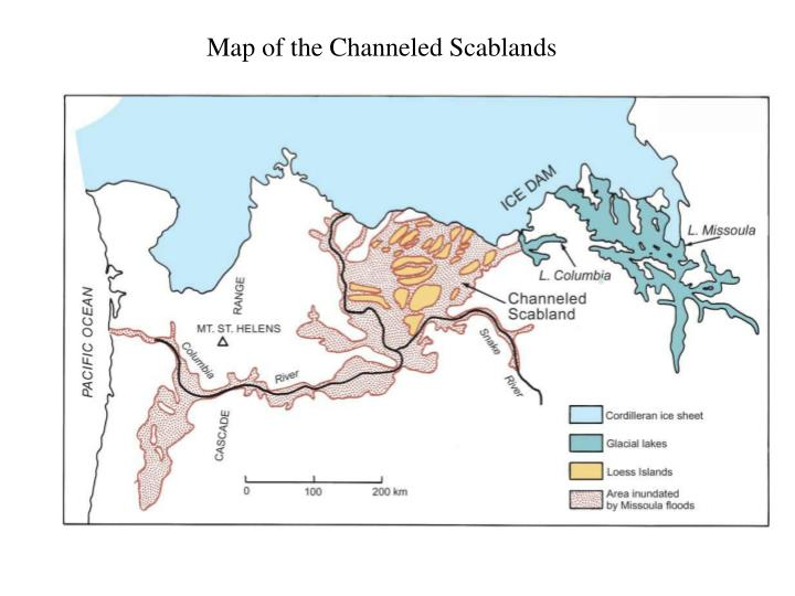 Map of the Channeled Scablands
