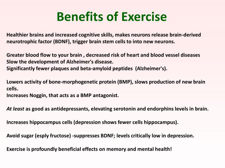 Benefits of Exercise