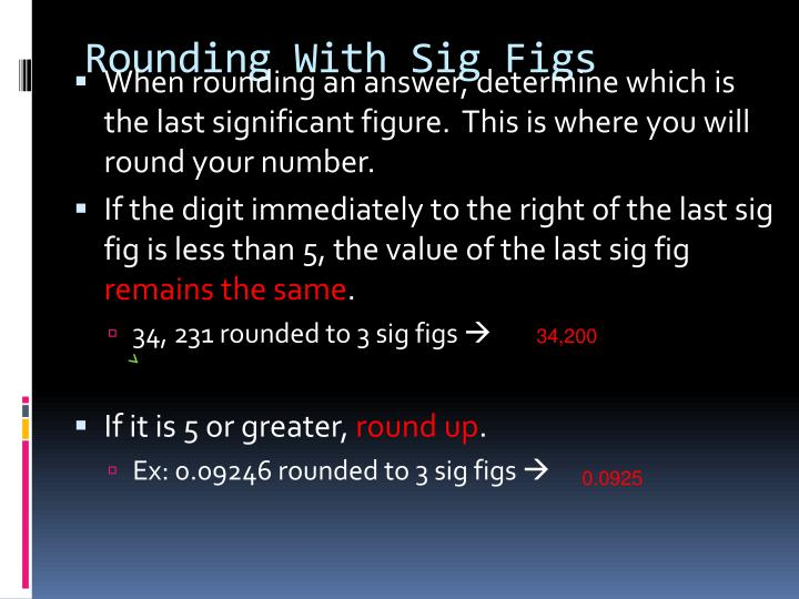 Rounding With Sig Figs