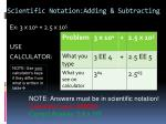 scientific notation adding subtracting