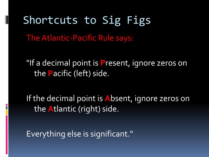 Shortcuts to Sig Figs