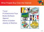 what people buy over the internet