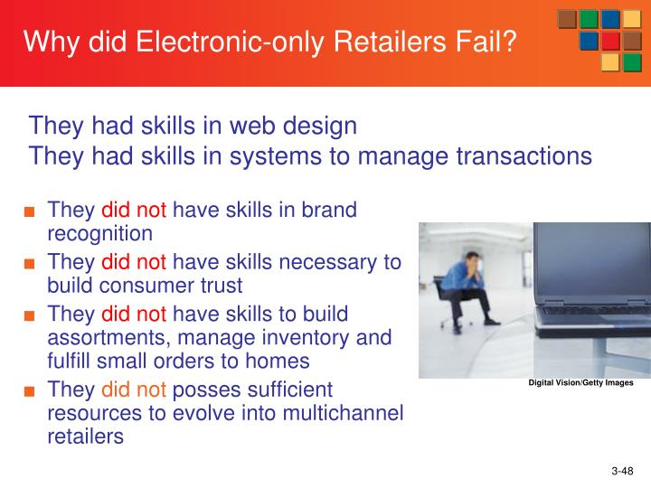 Why did Electronic-only Retailers Fail?