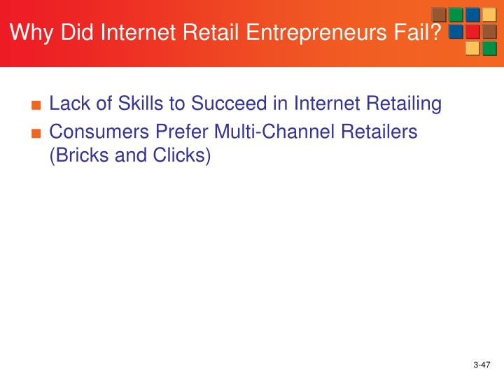Why Did Internet Retail Entrepreneurs Fail?